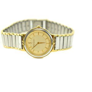 YSL: Stainless Steel/Gold Logo Watch (np)